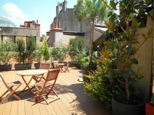 Terrasse au centre ville de Grenoble