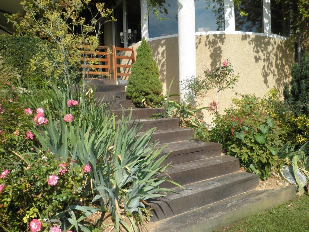 Le bois arborescence paysage for Escalier jardin bois