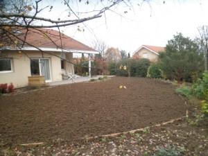 Vue général de la partie avant du jardin