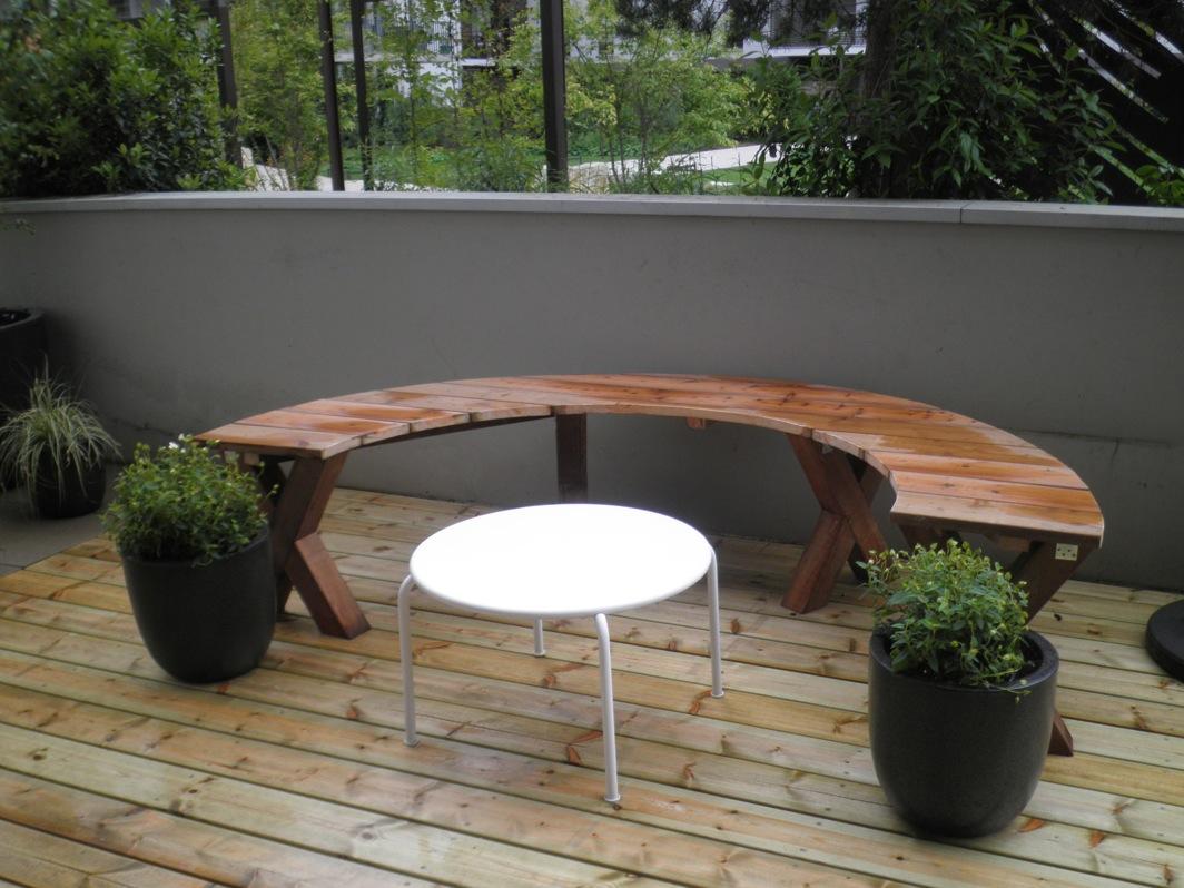 Du bois sur les toits arborescence paysage - Salon de jardin demi cercle ...