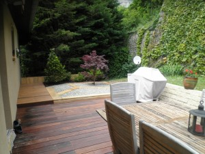 Prolongement de la terrasse existante
