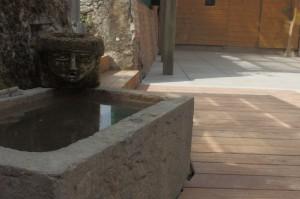 Grès céram et plancher Cumaru