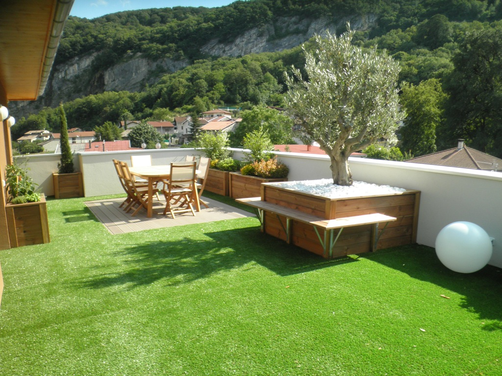 Les terrasses arborescence paysage for Jardin avec terrasse