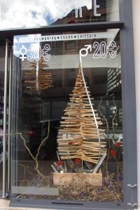 Décoration de Noël coiffeur Instinc'tifs Grenoble