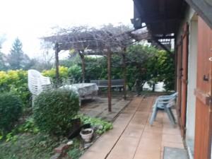 terrasse avec pergolas