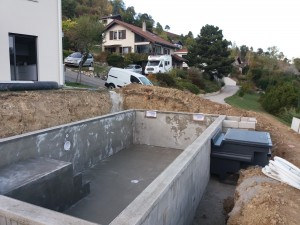 Implantation d'une piscine